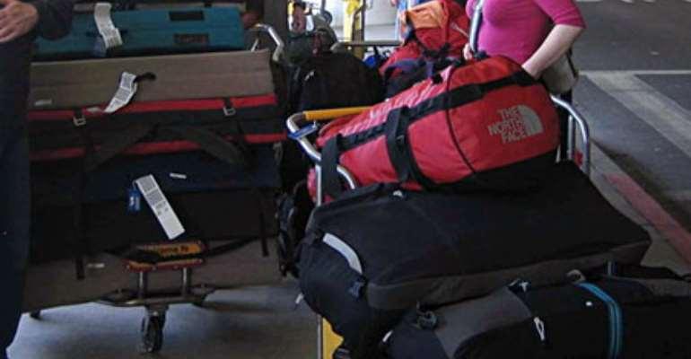 Passengers luggage held up in the British Airport saga