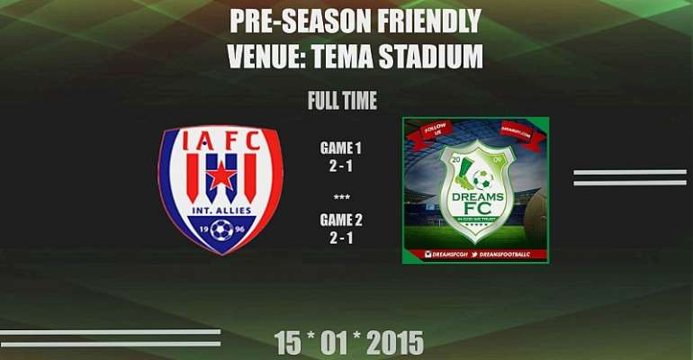 Inter Allies and Dreams FC friendly