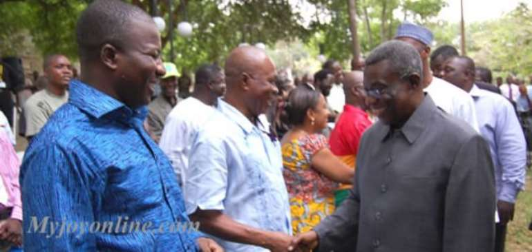 President Mills (right) and Spokesperson Mahama Ayariga, (left)