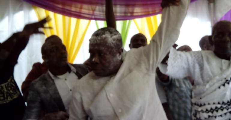 Shatta Wale's Father Installed As Ngleshie Amanfro Chief