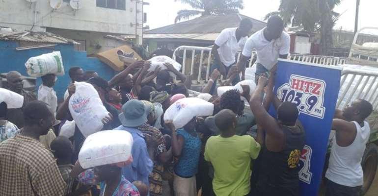 Hitz FM donates to Accra flood, fire victims
