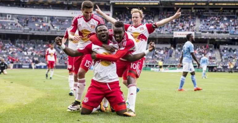 Substitute Gideon Baah scores debut MLS goal as NY Red Bull annihilate NY City 7-0