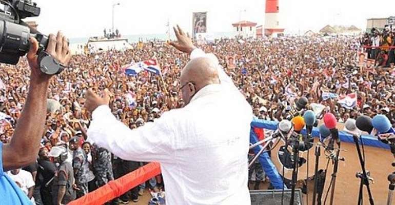 Nana Akufo-Addo arrives in Volta Region for 'Arise and Build' tour