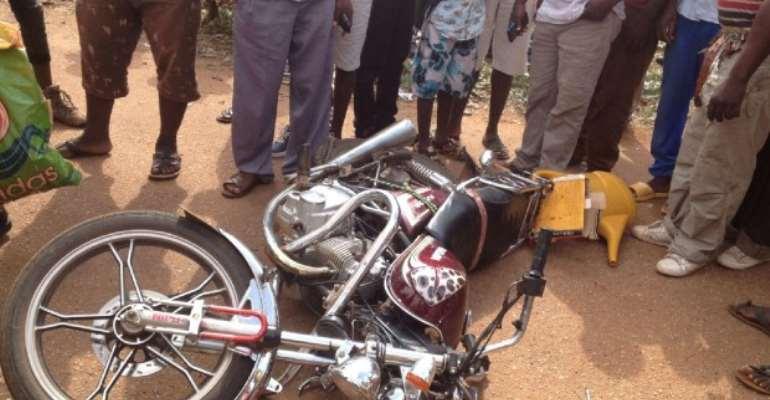 Biker Smashed To Death