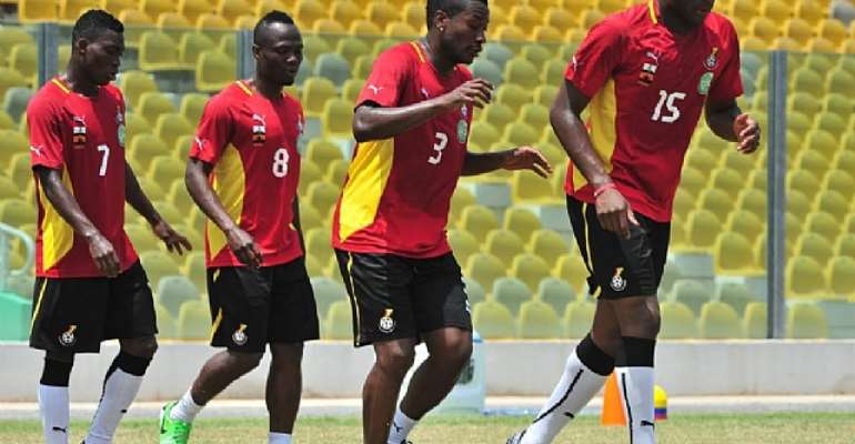Black Stars in training