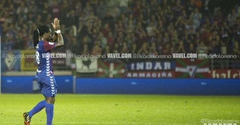 Eibar midfielder Derek Boateng fails to play against former club Rayo Vallecano