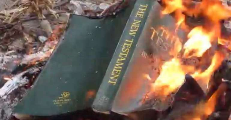 Boy Dies For Burning Dad's Bible
