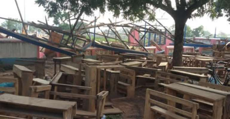 Students of the Tamale Metropolitan School will have to look for alternatives after the school building was demolished.