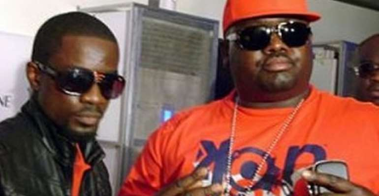 Sarkodie and Babs during the outdooring on January 6, 2010