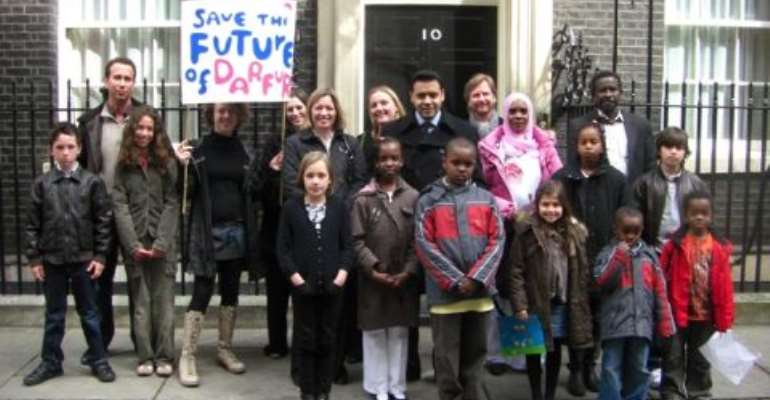 Shahid outside No.10 Downing