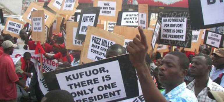 CJA calls for slash in emoluments for Kufuor, others