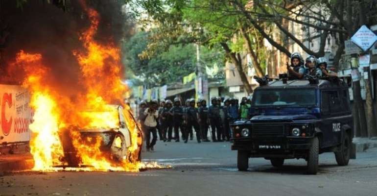 Clashes Have Broken Out In Cities Including The Capital, Dhaka