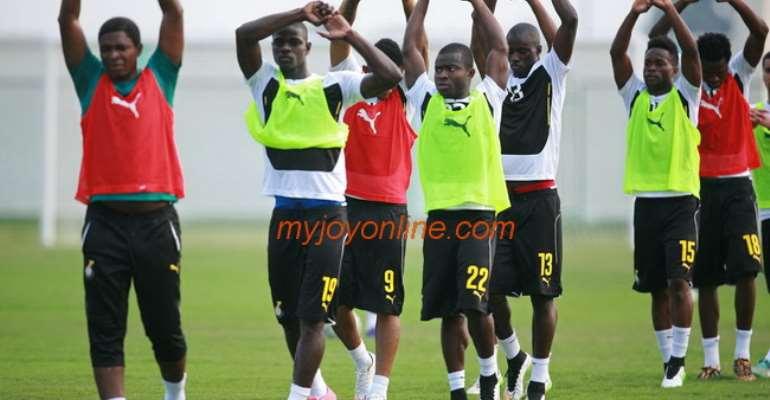 Photos : AFCON 2015 Black Stars train to face Bafana Bafana decider today