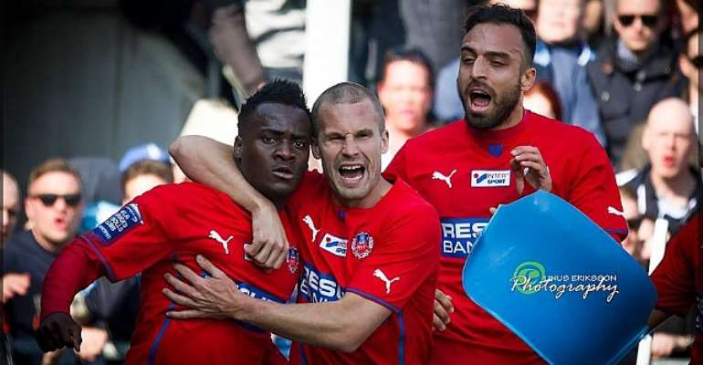 David Accam scored for Helsingborg on Sunday afternoon