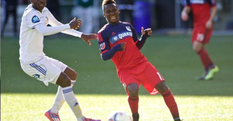 David Accam lasted the full game for Chicago Fire on Saturday