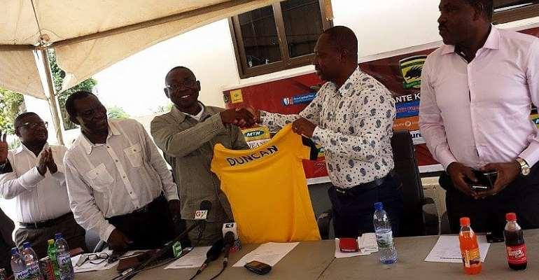 David Duncan unveiled as new Asante Kotoko coach