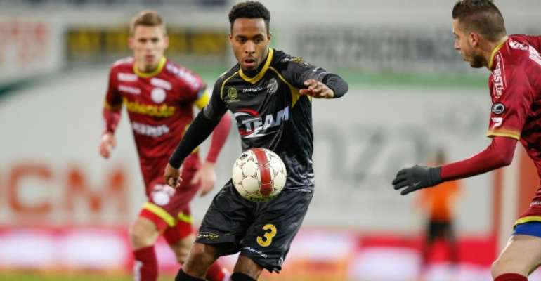 Denis Odoi scored for Lokeren at Club Brugge in the Belgian Pro League play-offs on Friday night