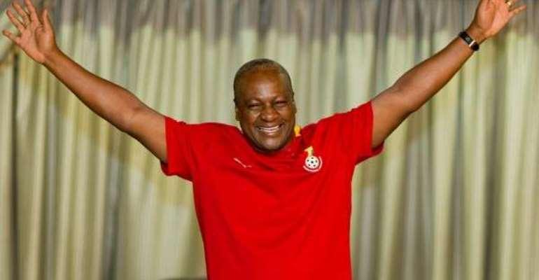 BIGGEST FAN: President Mahama urges Black Stars for victory