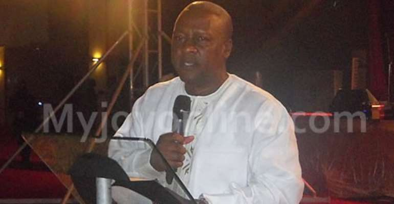 Vice President John Dramani Mahama speaking at the MUSIGA Ball