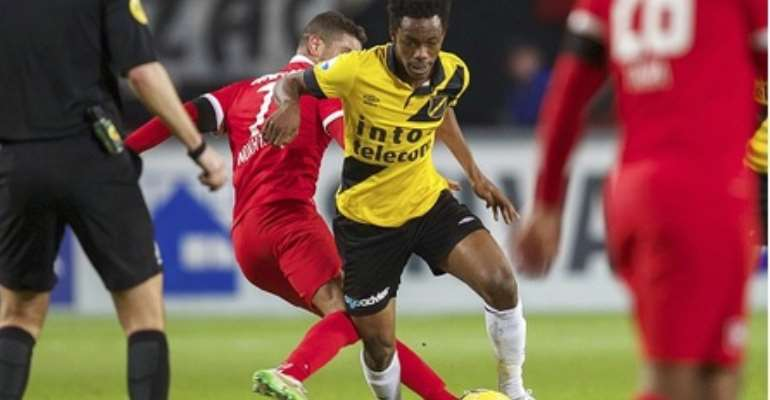 Divine Naah in action for NAC Breda