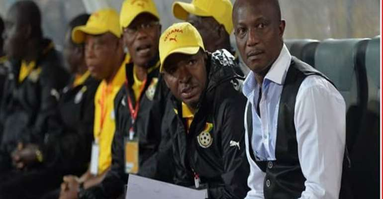 Ghana coach Kwesi Appian and his technical staff