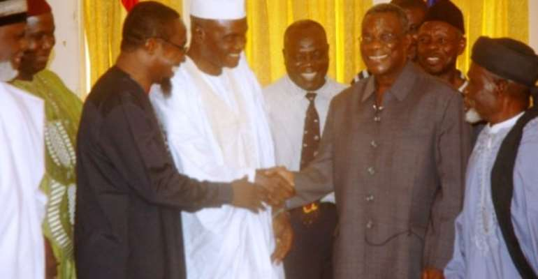 Road contractors, Muslim group confer with President Mills