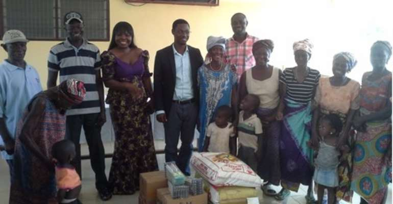 CNA officials donate to the Ho Lepers Village