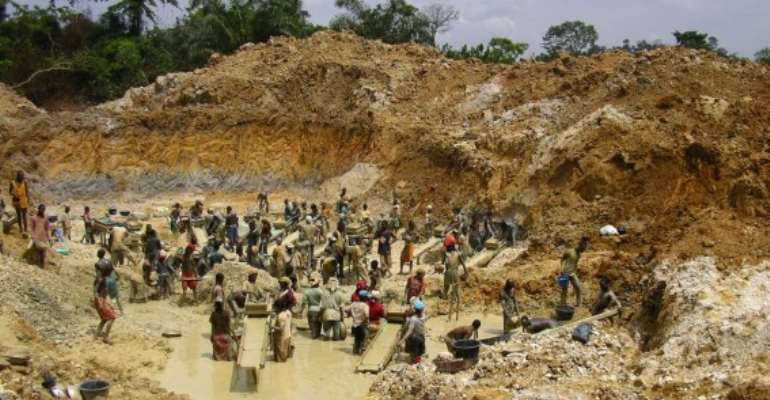 Illegal gold mining, sand winning on the ascendency in the Ahanta West District