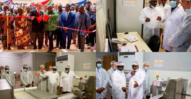 PRESIDENT MAHAMA INAUGURATES A NEW COCOA PROCESSING  FACTORY