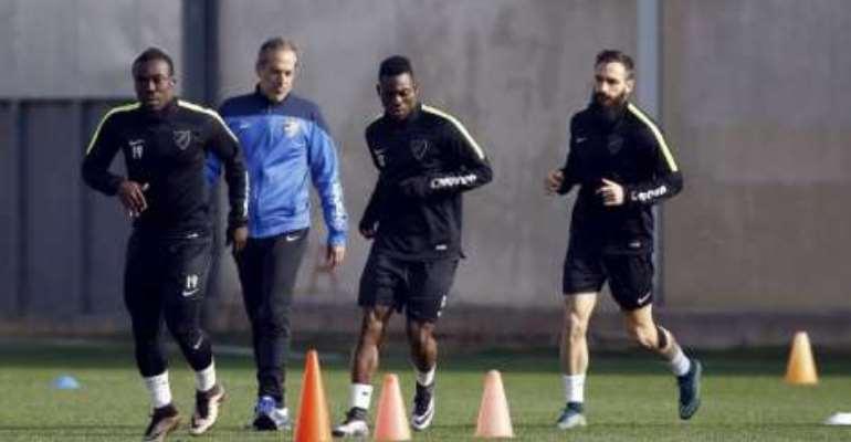 Christian Atsu: Ghanaian winger fails to make Malaga debut in La Liga