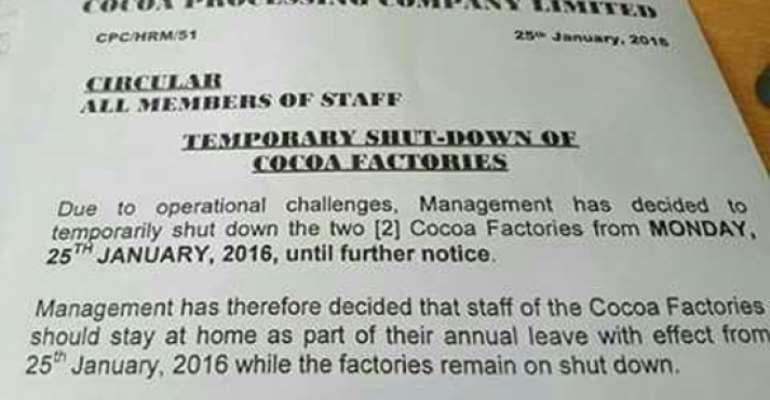 CPC shuts down two plants