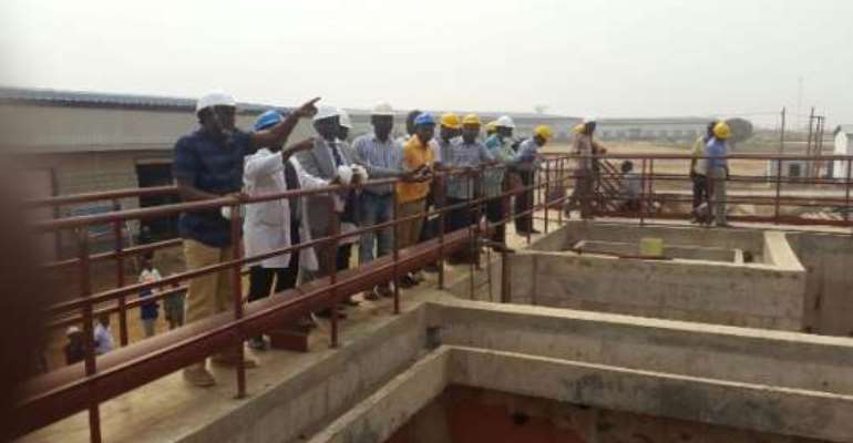 Minister inspects fecal Compost treatment plant