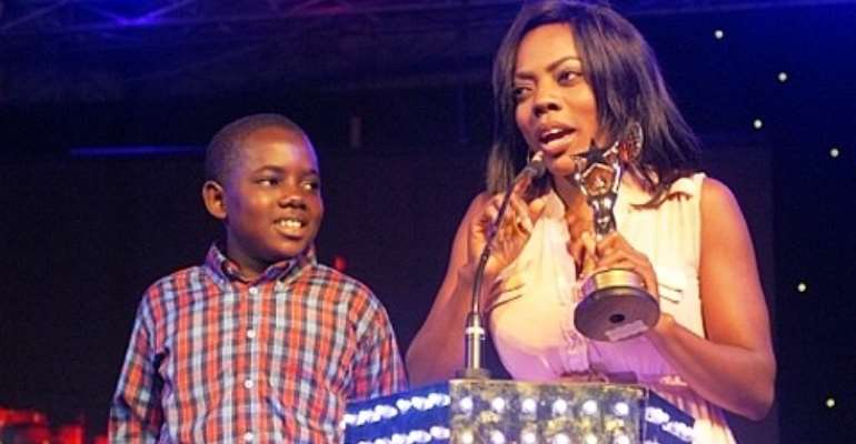 Nana Aba Anamoah and son