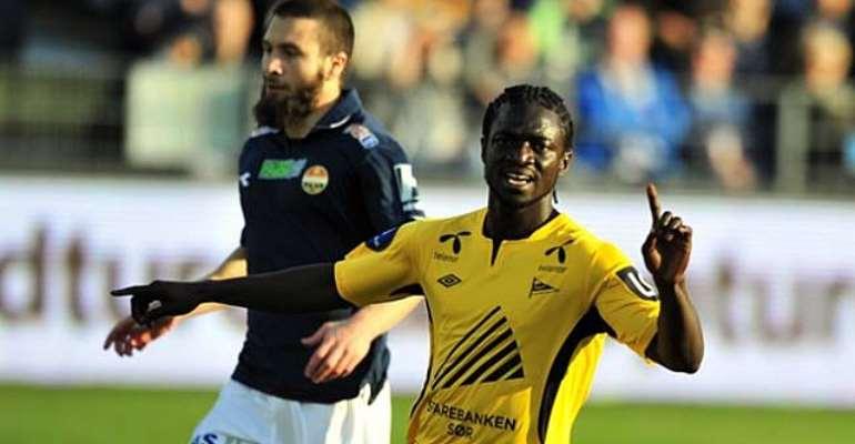 Ernest Asante scored twice for IK Start