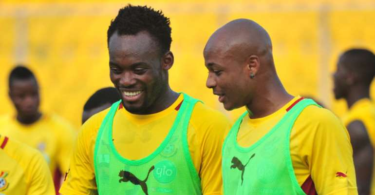 Michael Essien and Andre Ayew