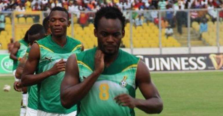 Michael Essien trained with Ghana's squad on Monday.