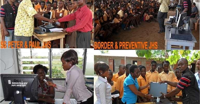 FRIENDS OF HON. FIFI FIAVI KWETEY DONATES TO SCHOOLS