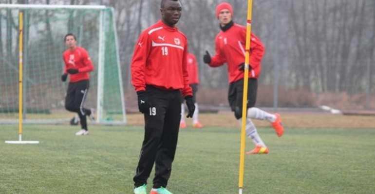 Dominic Adiyiah on trial at Kalmar FF.