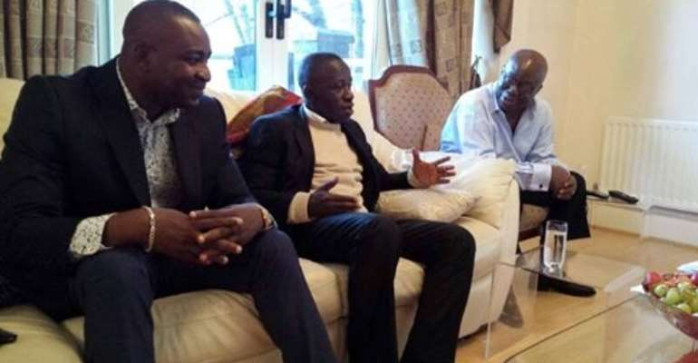 Nana Addo strategizes with Wontumi, Osei Prempeh in London