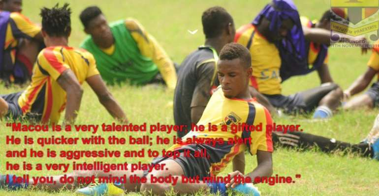 Hearts youth team coach backs promoted Macou Badu to excel with First Team
