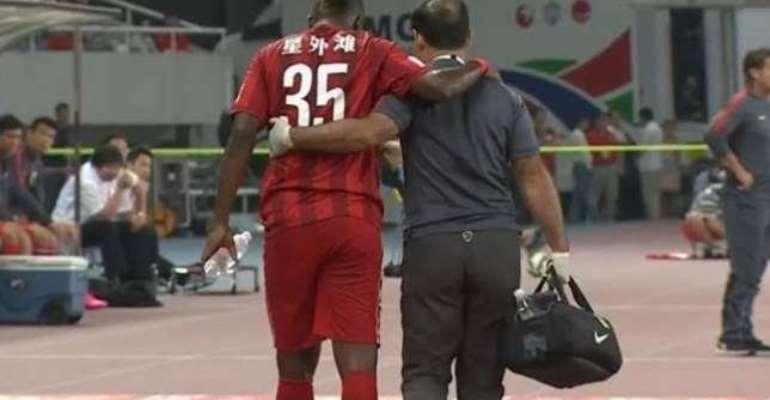 Gyan aggravates knee injury in Shanghai SIPG loss