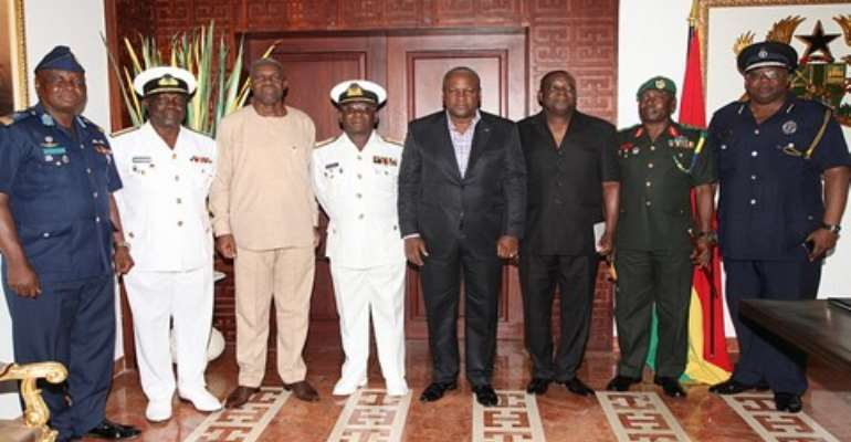 President Mahama and the Security Chiefs