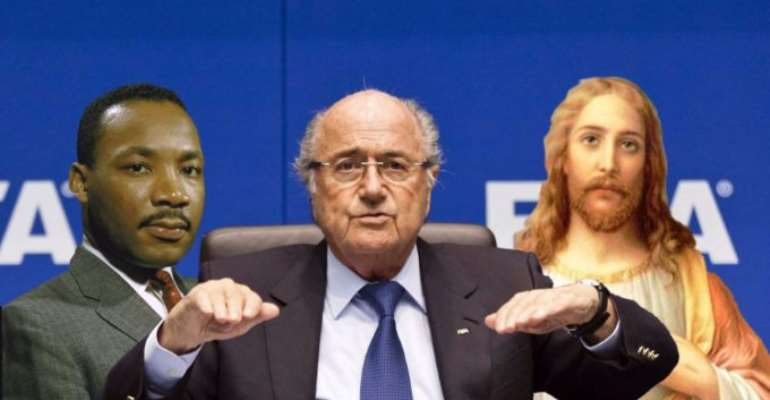 Blatter likened to 'Jesus and Martin Luther King' at Concacaf congress ahead of Fifa president election