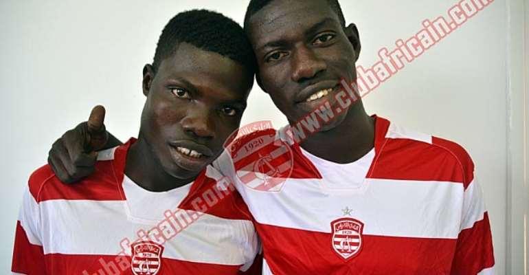Francis Narh and Derrick Mensah joined Club Africain last week