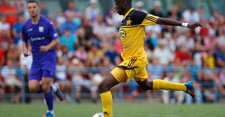 Ghanaian striker Fred Benson scores for Sheriff Tiraspol in Moldova