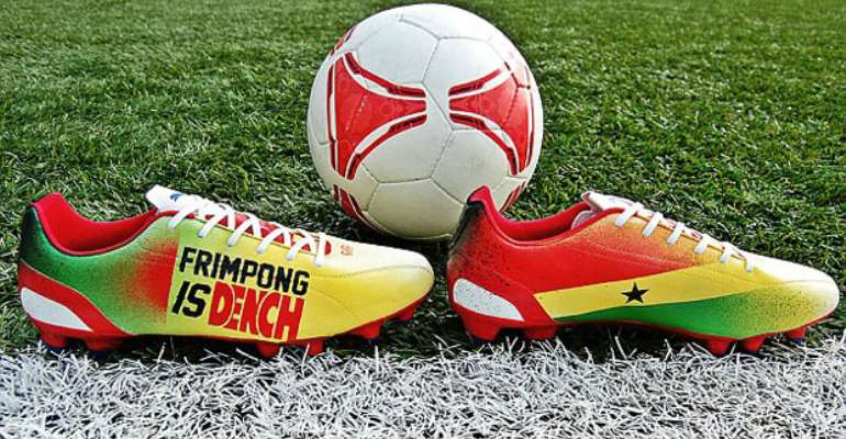 Frimpong designs boots in Ghana colours