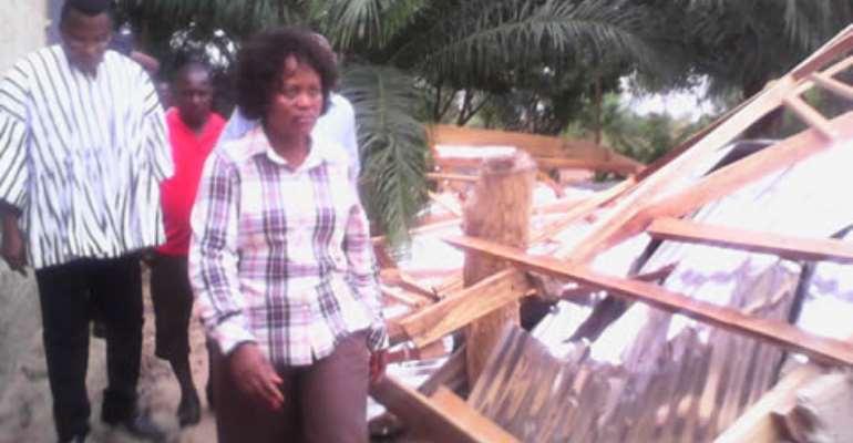 Minister calls for supervision of contractors after South Tongu rainstorm destruction