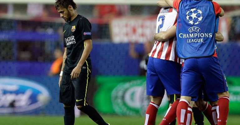 Atletico force Bacerlona to take a bow out of Champions League