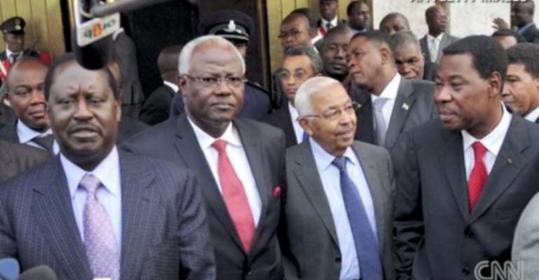 The AU delegation that met with Gbagbo