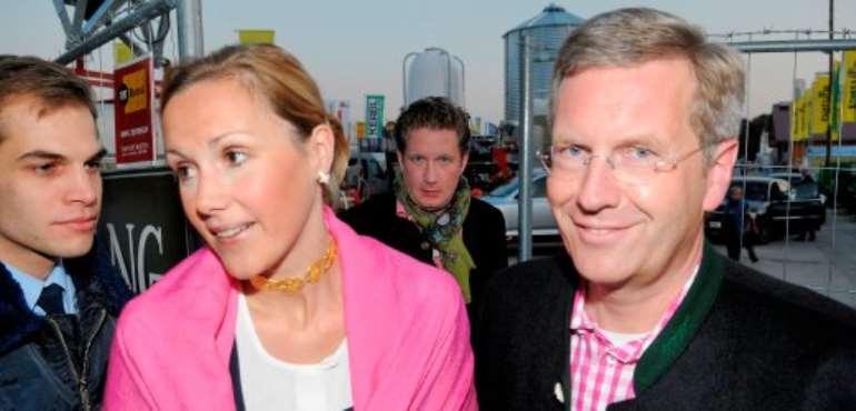 The German President Wulff & Wife Bettina